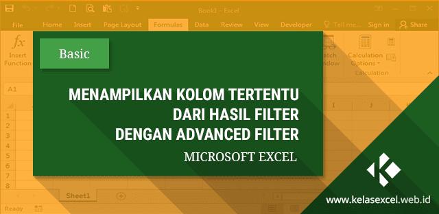 Cara Menampilkan Hasil Filter Hanya Kolom Tertentu Dengan Advanced Filter Excel