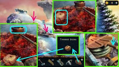 когтем делаем форму в глине и кладем монету в чашку в игре затерянные земли 3
