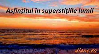 Asfințitul în superstițiile lumii