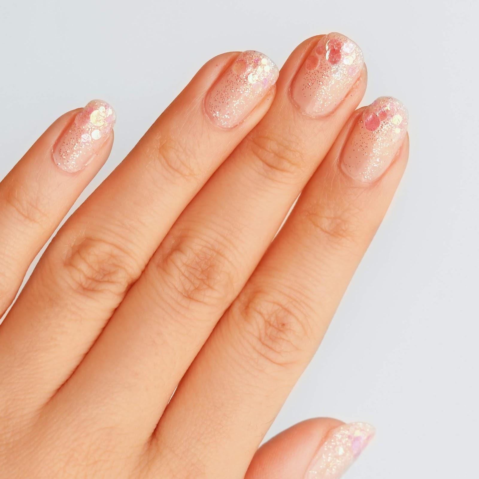 glitter tips nail art easy