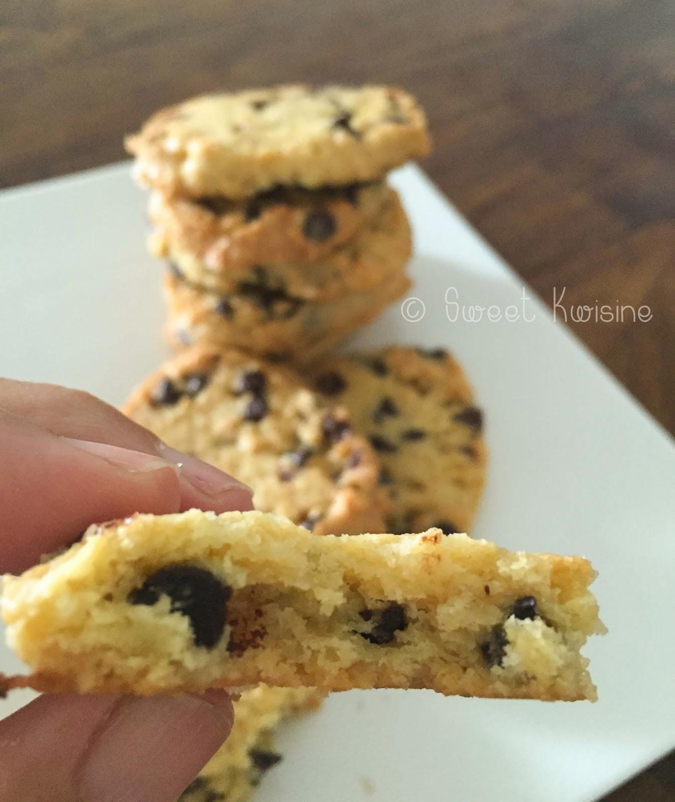 sweet kwisine, chocolat, cookies, biscuits, sablés, jaunes d'oeuf en trop