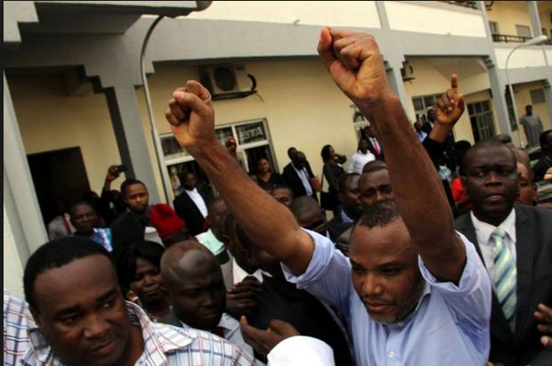 BIAFRA: Nnamdi Kanu finally regains freedom aa his sureties are identified