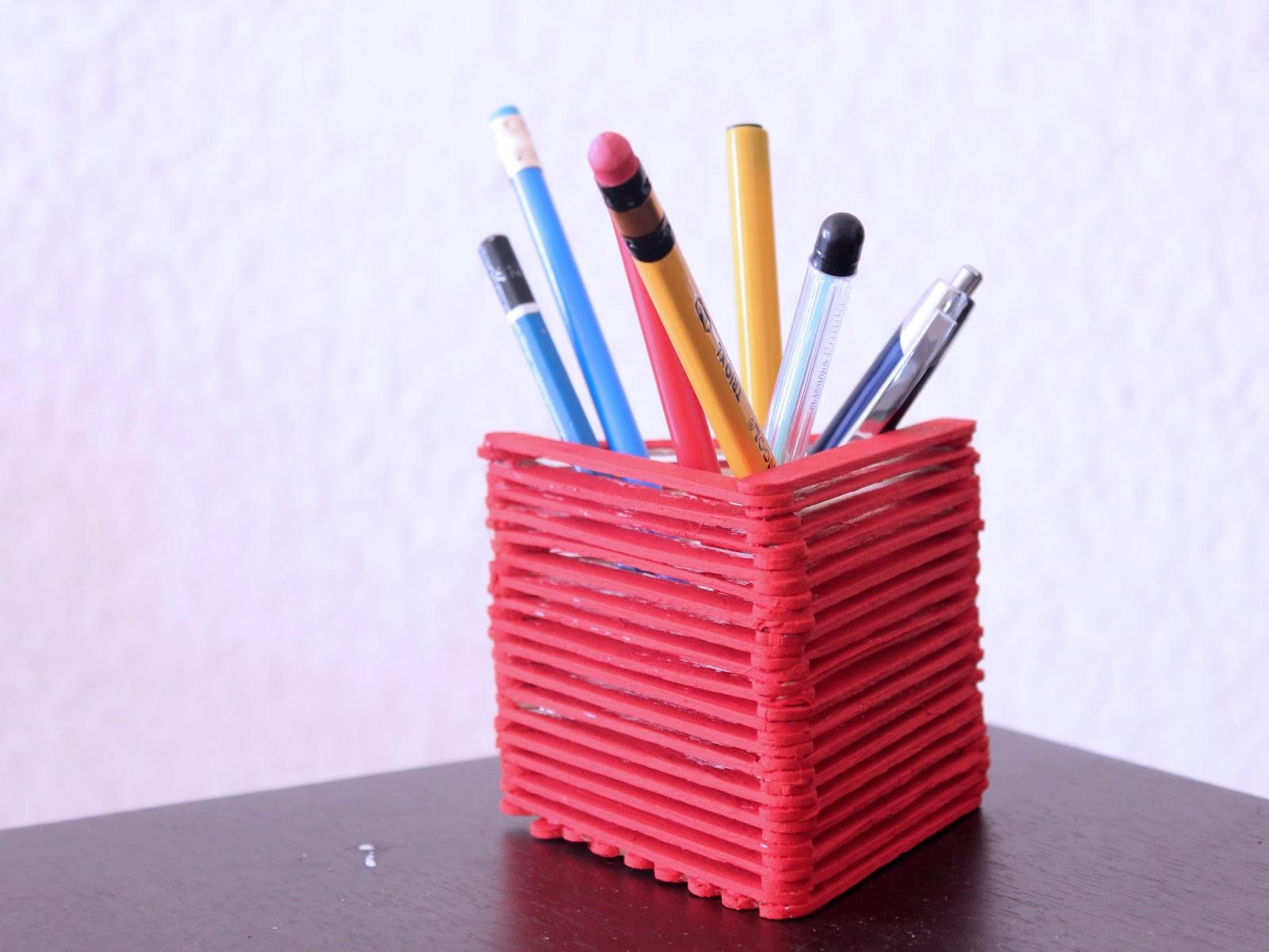 Informasi: Cara Membuat Tempat Pensil Dari Stik Es Krim