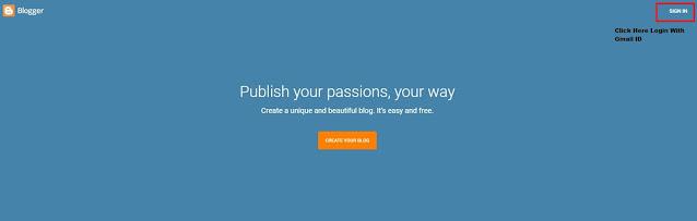 Create Google Blogger