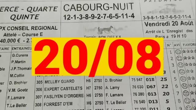 programme quinté+ Pronostic quinté Vendredi 20/08/2021