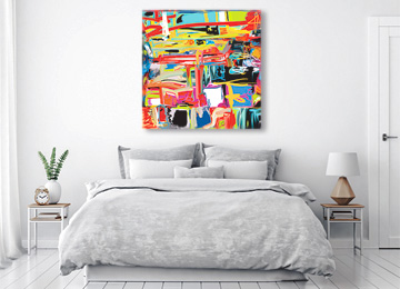 multi coloured, digital painting, abstract painting, original artwork, artist, buy art online, large square abstract, abstract artist, contemporary art,