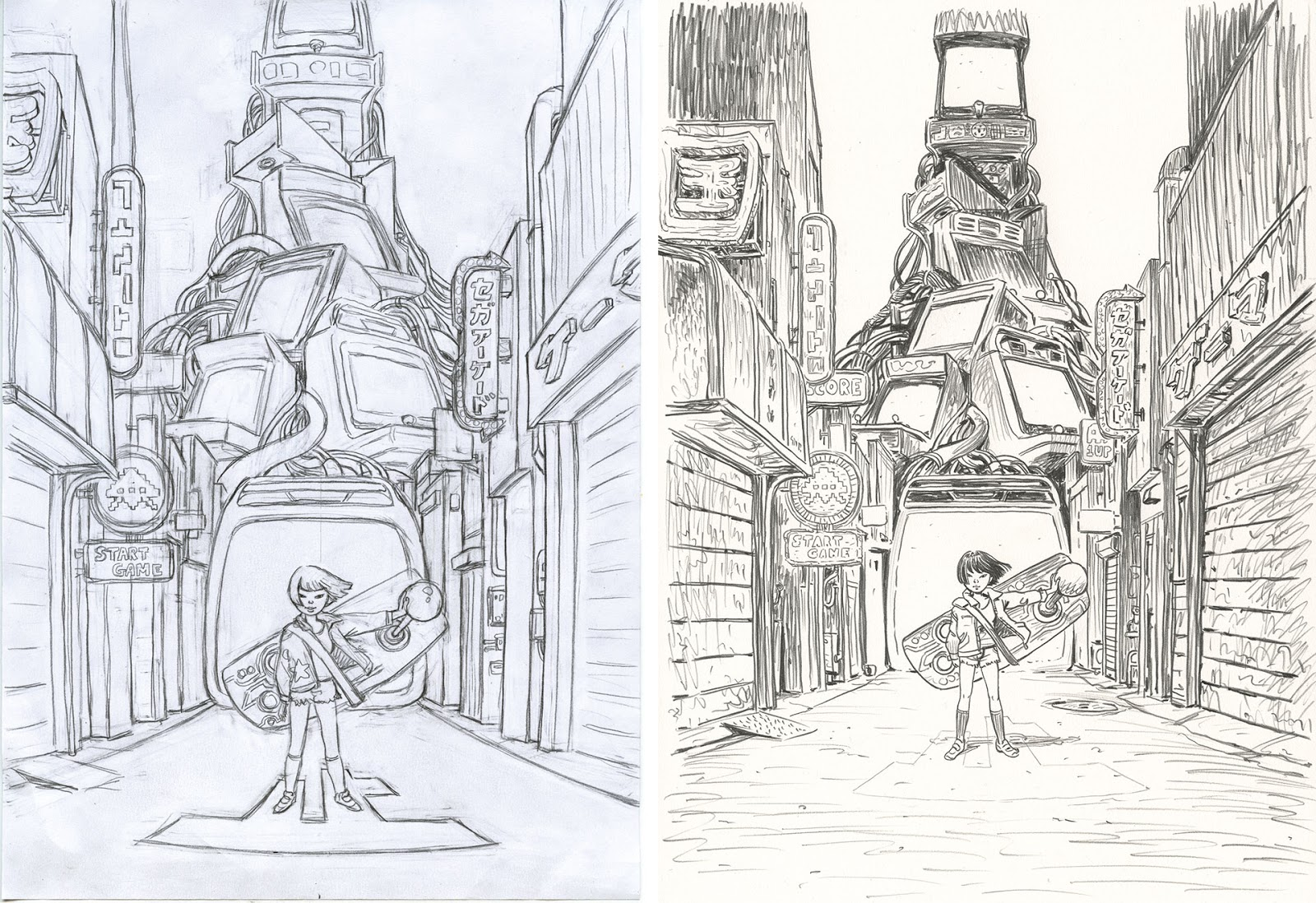 pencils of the illustration