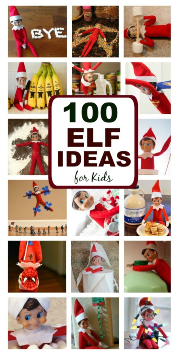 Do you need ideas for your elf this year?  Here are over one hundred fun and creative elf-on-the-shelf ideas for you to surprise the kids with this Christmas. #elfontheshelf #elfontheshelfideas #elfontheshelfideasfortoddlers #elf #elfontheshelfideasforkids #elfontheshelfideasfunny #elfideas #christmasactivitiesforkids #growingajeweledrose #activitiesforkids #funthingstodowiththeelfontheshelf!