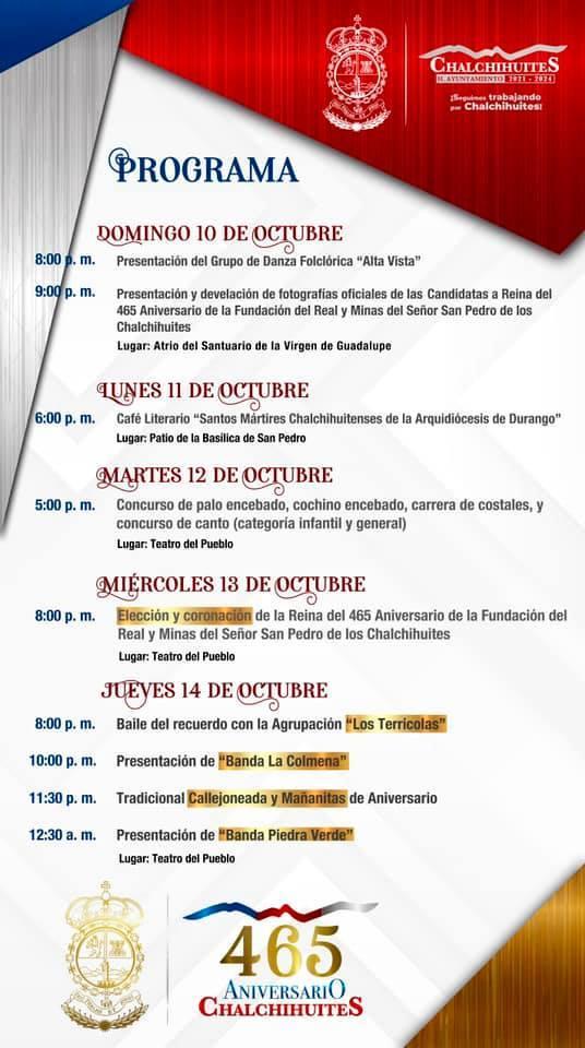 Feria Chalchihuites 2021 465 aniversario de la Fundación