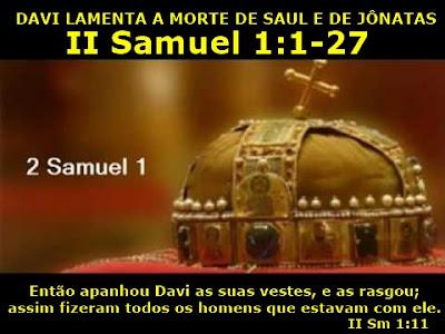 Resultado de imagem para 2Samuel 1,1-27
