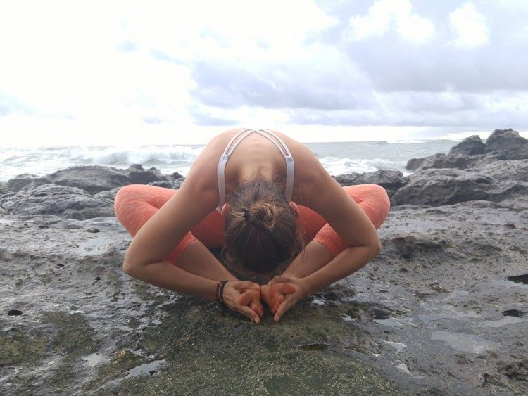 7 Simple Yoga Stretches To Soothe Sciatica Back Pain (From Costa Rica) - Bound Angle Pose