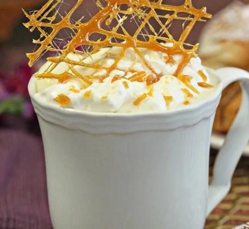 CREME BRULEE WHITE HOT CHOCOLATE #drinks #desserts