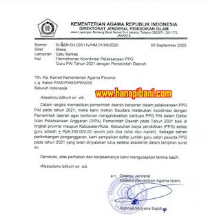 Data Calon Peserta PPG PAI Tahun 2021 Seluruh Indonesia
