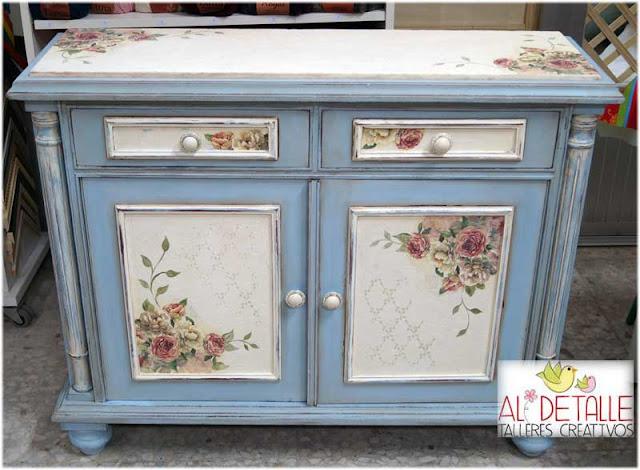 Rosabel manualidades manualidades en basauri al detalle - Restaurar muebles con papel ...