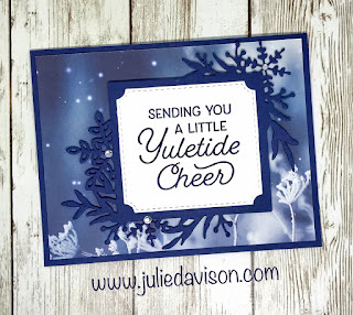 Stampin' Up! Frosted Foliage ~ Feels Like Frost ~ Yuletide Cheer Christmas Card ~ 2019 Holiday Catalog ~ www.juliedavison.com
