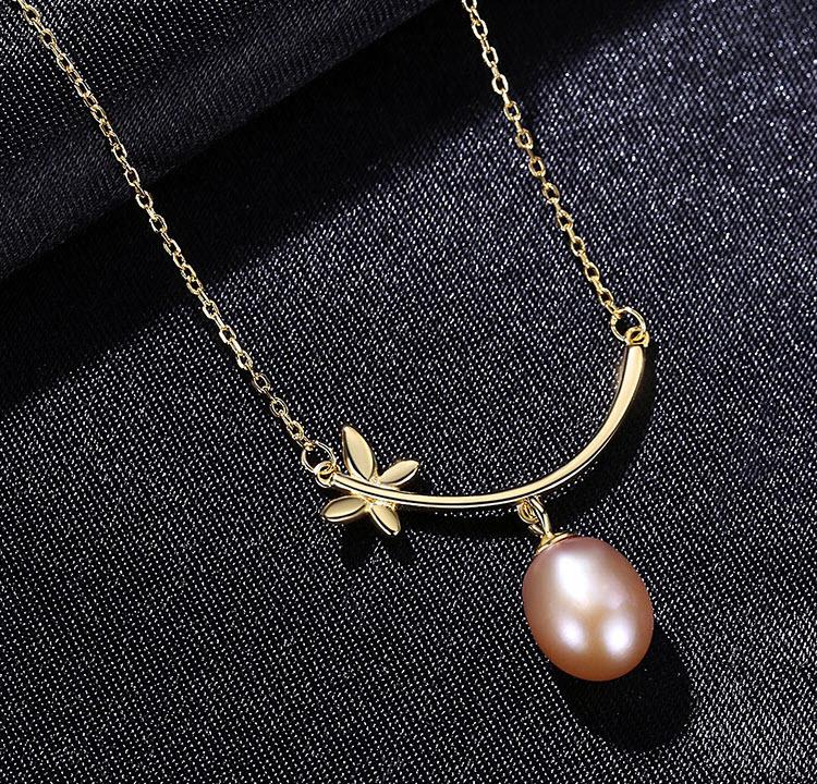 薇若拉蝴蝶淡水珍珠 925純銀項鍊