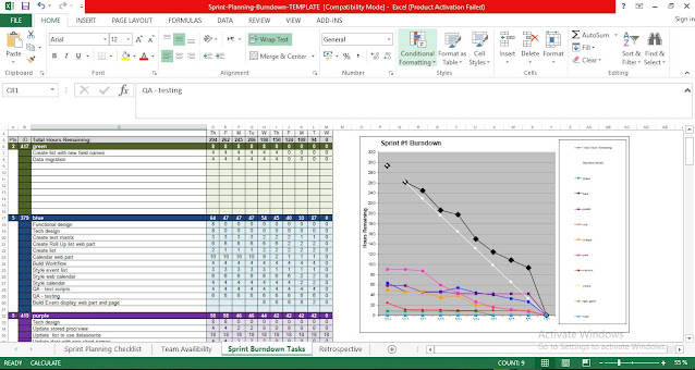 Sprint Planning Checklist Template for Excel