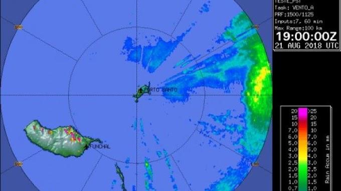 O radar meteorológico do Porto Santo cobre mesmo tudo?