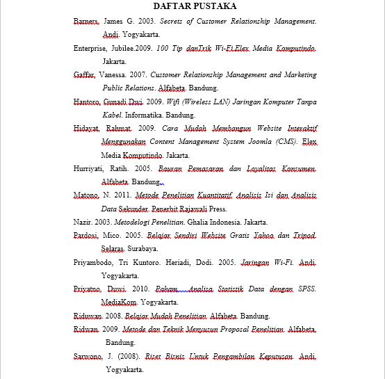 Contoh Penulisan Daftar Pustaka Skripsi Teknik Informatika Mas Abas