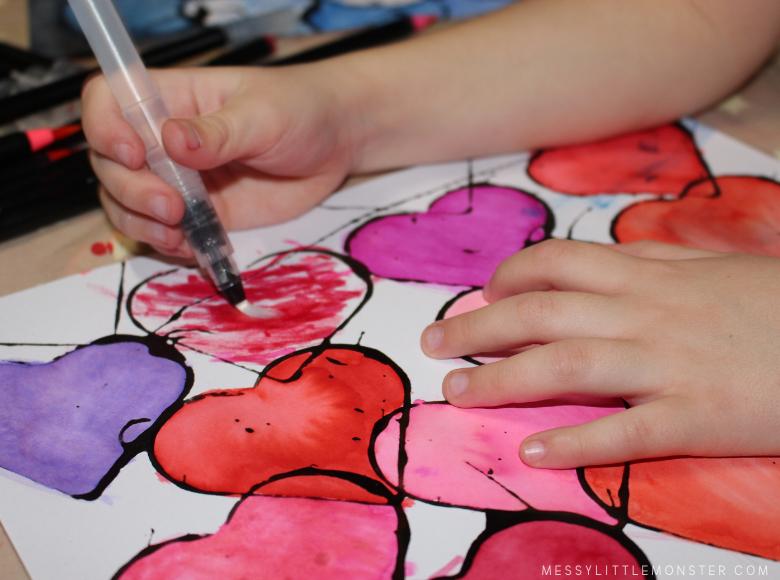 watercolor heart art