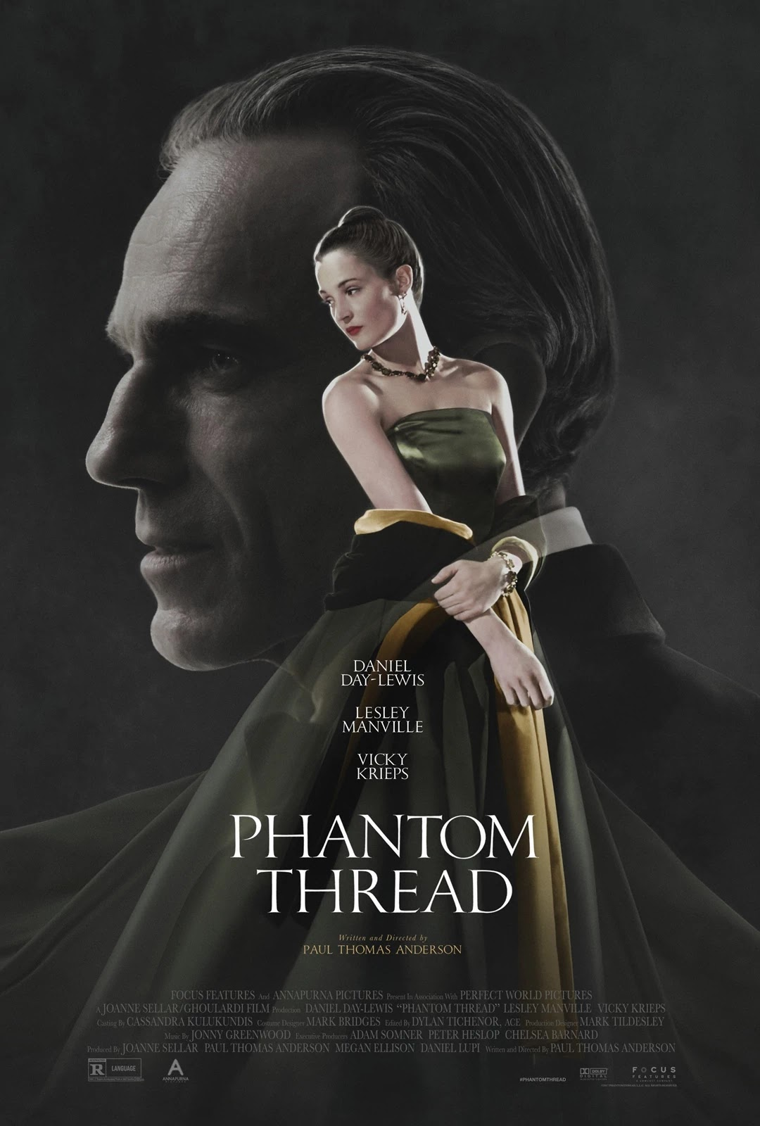 phantom thread,霓裳魅影,魅影缝匠,海報,poster