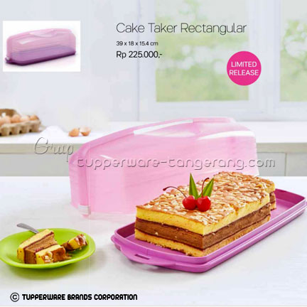 Cake Taker Rectangular ~ Katalog Tupperware Promo Juni 2016