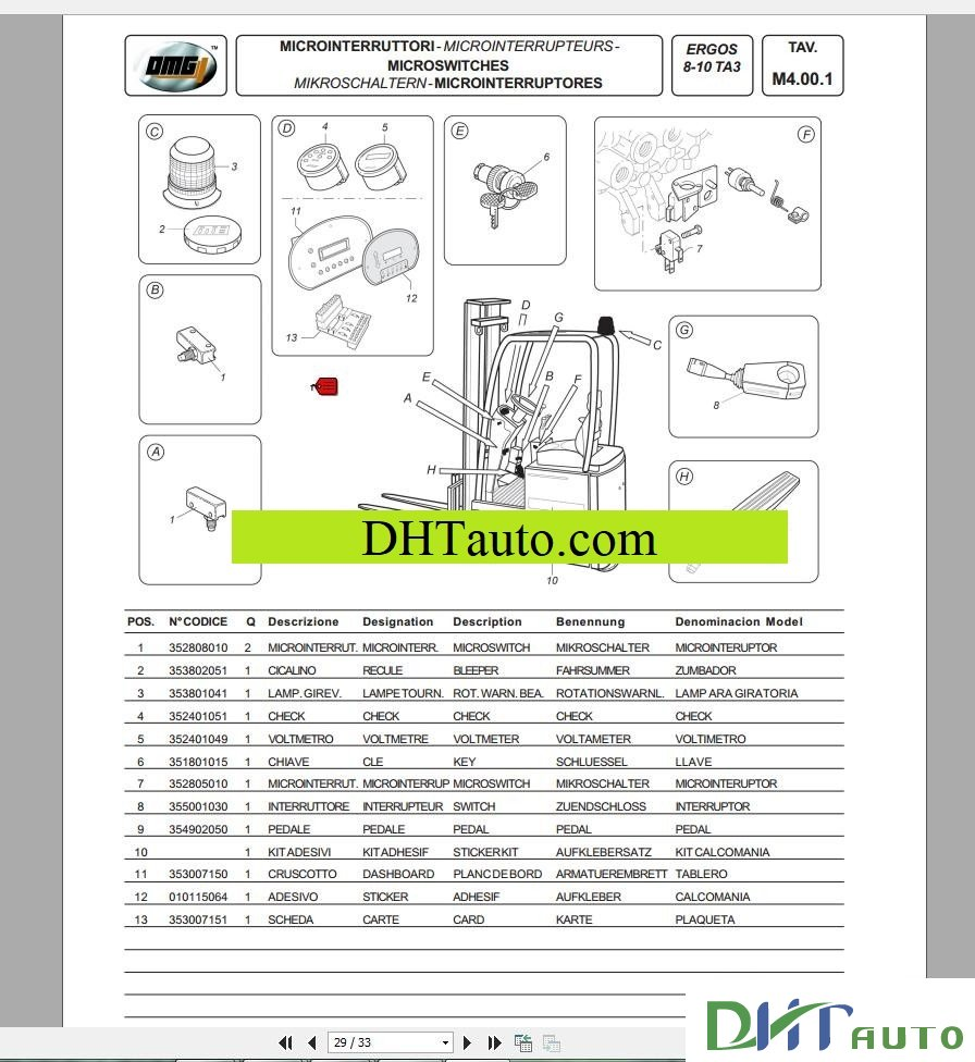 omg wiring diagram omg forklift spare parts catalogue - automotive library 1986 chevy diesel alternator wiring diagram #2