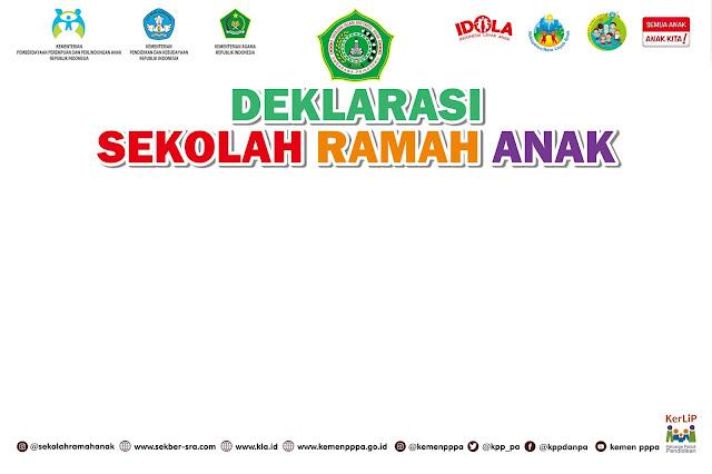 Desain Banner Tanda Tangan Deklarasi Sekolah Ramah Anak