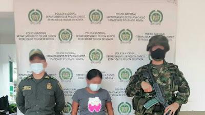 Tras  las rejas  presunta integrante del ELN capturada en Novita