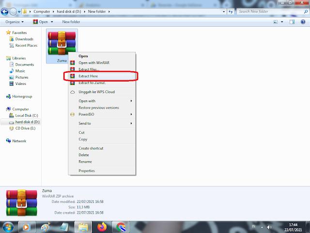 Cara Install 1. Unduh file zumanya diatas  2. Ekstrak file yang telah diunduh