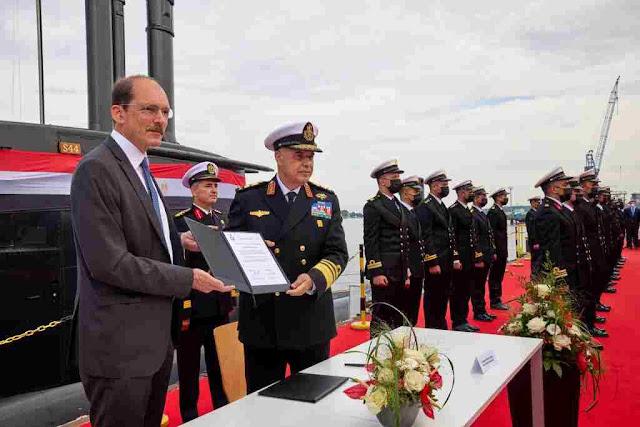 Thyssenkrupp Marine Systems entrega el cuarto submarino a la Armada egipcia