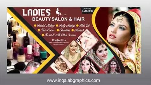 Beauty Parlour Banner Design PSD