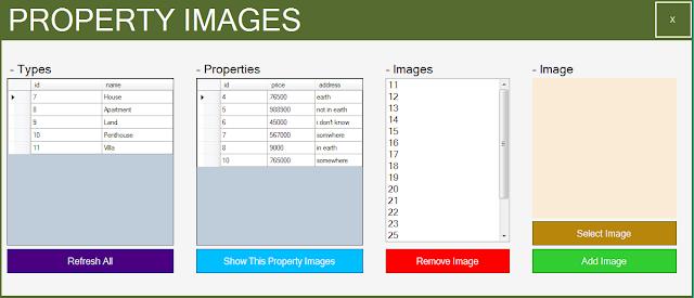 manage property images form