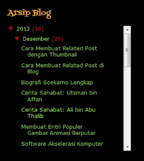 Arsip Blog Model Scroll