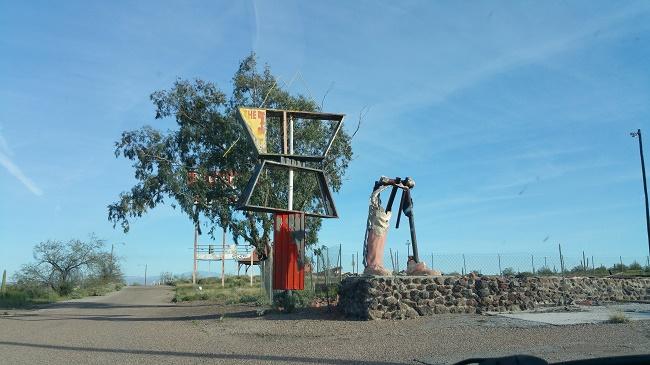 Abandoned Pichaco Peak Trading Post Ruins in Arizona
