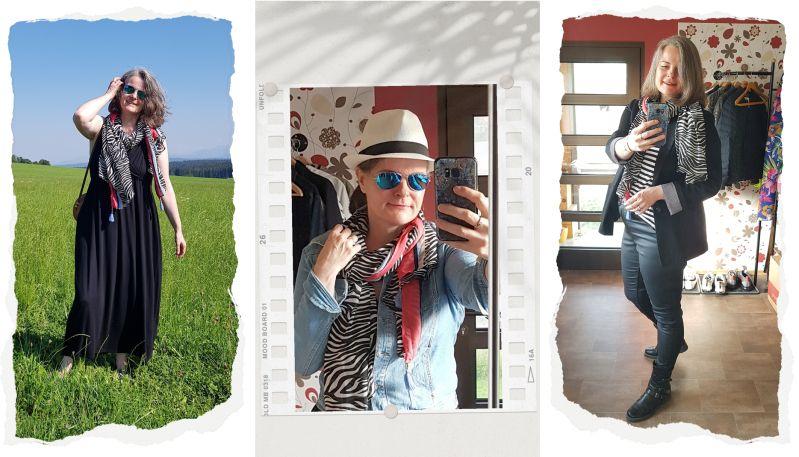 Wild Thing - ü30Bloggeraktion - Schal im Zebraprint ganzjährig kombinieren