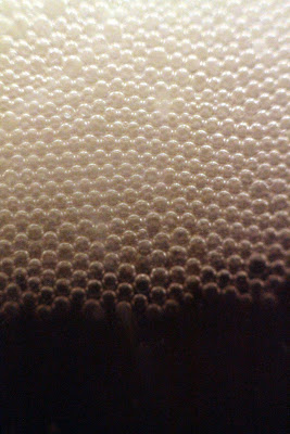 A closeup of the bubbles at the start of fermentation.