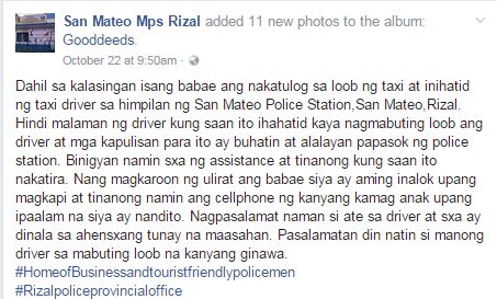 Pinoy Taxi Driver Brings Drunk Passenger To Police! Why? Read The Full Story Here!
