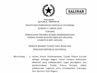 PP Nomor 41 Tahun 2020 Tidak Kurangi Independensi KPK