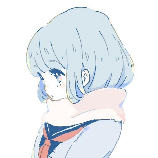 Hình ảnh Anime girl lạnh lùng - Anime girl lạnh lùng trắng đen
