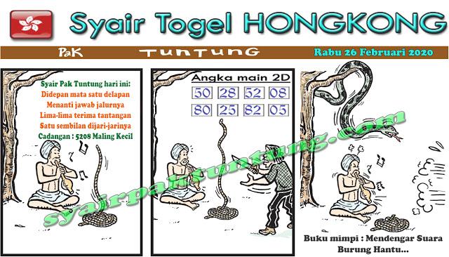 Prediksi Togel JP Hongkong 26 Februari 2020 - Prediksi Pak Tuntung