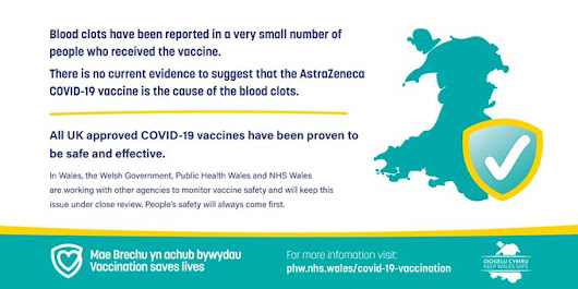 PHE Wales blood clots information