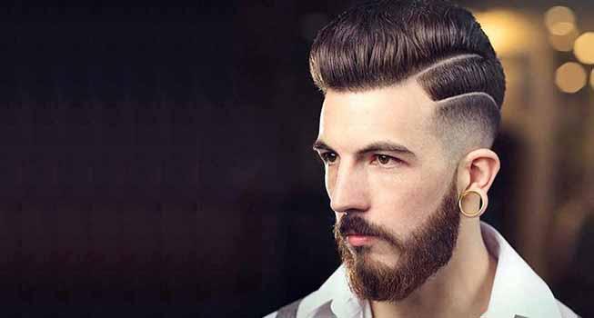 gaya rambut pria garis pinggir