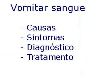 Vomitar sangue causas sintomas diagnóstico tratamento prevenção riscos complicações