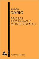 Portada del libro Prosas profanas, de Rubén Darío