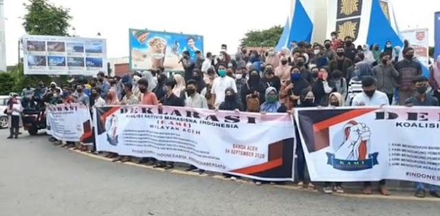 Deklarasi Di Simpang Lima, KAMI Wilayah Aceh Dukung Kebijakan Pemerintah