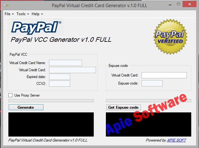 Virtual Credit Card Generator