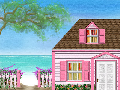 Pink House by the Sea