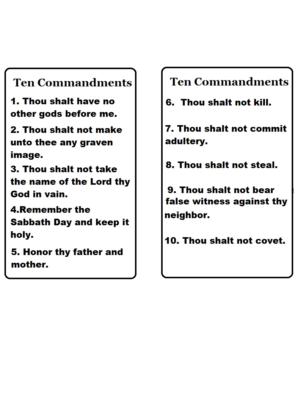 Church House Collection Blog Ten Commandments Template – Ten Commandments Worksheets
