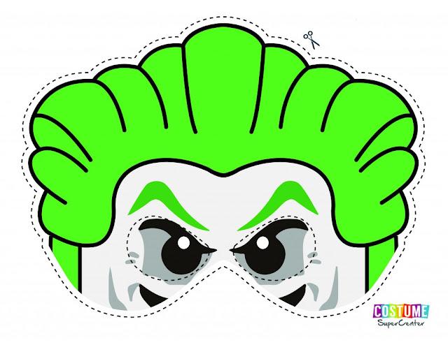 Lego Joker: Free Printable Mask